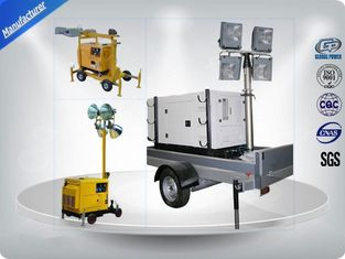 चीन Air - Cooled Telescopic Light Tower / Manual Trailer Mounted Light Towers आपूर्तिकर्ता