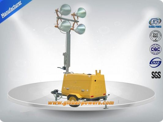 चीन LED 9m Portable Trailer  Mobile Light Tower Diesel Generator  with Hand Push आपूर्तिकर्ता